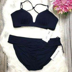 Athleta Prism Back Side Tie Bikini Set Size XL New